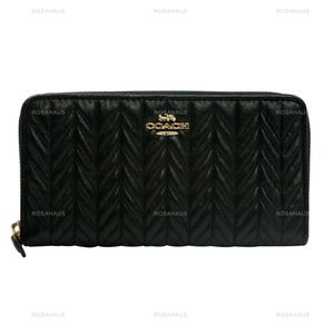 ACCORDION ZIP WALLET WITH QUILTING (COACH F75802)